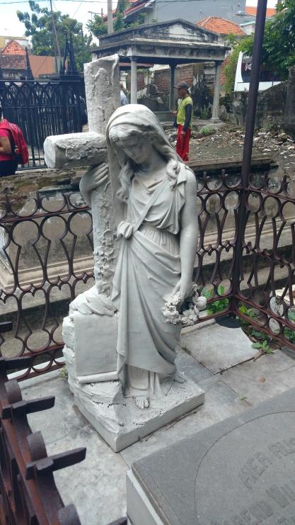 Headstone at grave in Dutch cemetery, Surabaya, Indonesia (December, 2017)