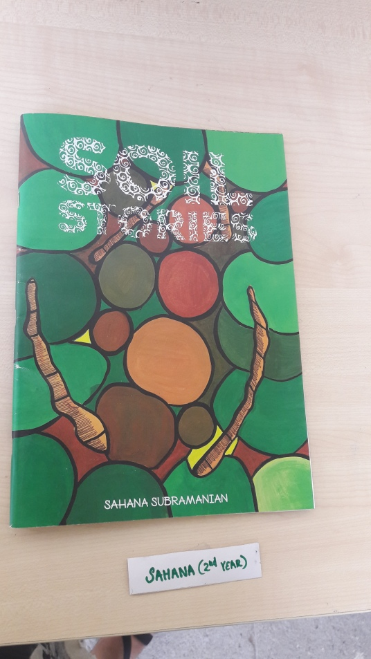A book on Soil designed by one of the students