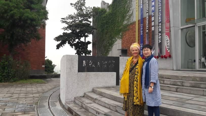 HaB Advisor Françoise Vergès and PI Min-Chin Kay Chiang.